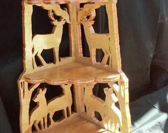 Deer knick knack shelf