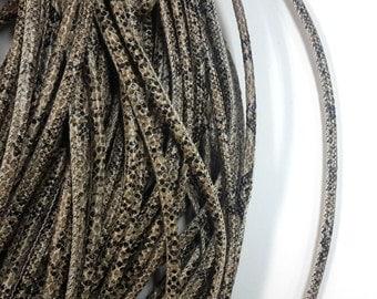1 x Metre 6mm Snakeskin Print Cord