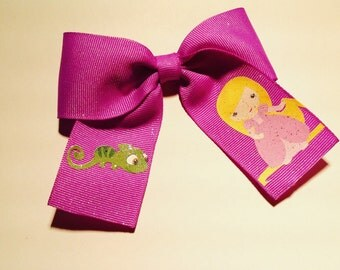 """Rapunzel bow measures 3 1/2"""" across"""