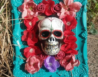 Day of the dead skull decorative frame.