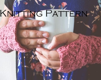 Fingerless Gloves Knitting Pattern / Texting Gloves Pattern / Fingerless Mittens PDF Pattern / Gifts for Knitters / Arm Warmers Pattern
