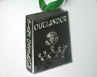 Outlander Series Book Ornament - Comes with Velvet Pouch and Ribbon - Awesome Gift!