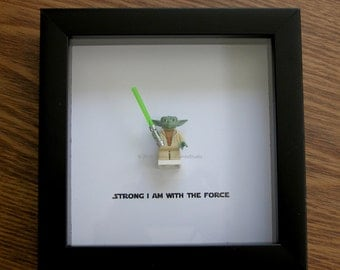 star wars framed art master yoda lego christmas lego minifigure display wedding gift wall decor picture frames displays