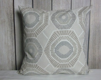 Throw Pillow. Pillow Cover. Grey Pillow. Tan Pillow
