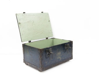 Rustic Painted Steel Bound Box
