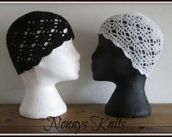 Crochet Cotton Cloches Hat, All sizes available, please see full listing for details.