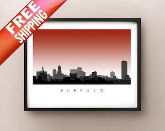 Buffalo Skyline - New York Cityscape