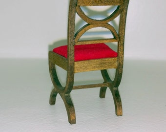 Dollhouse Miniature Chair 1:12 Scale Item #17322