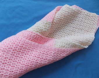Cotton Candy, Pink & White Baby Blanket