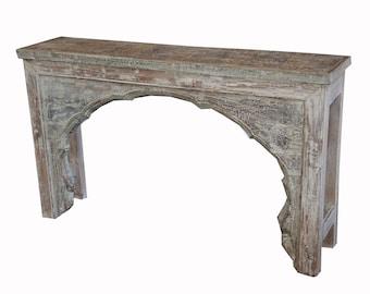 Teak console table from Terra Nova Furniture Los Angeles