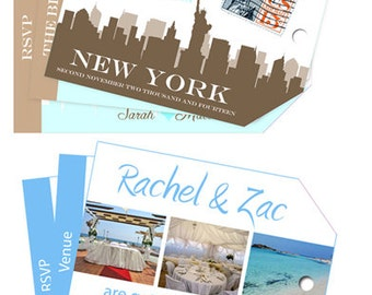 Luggage Tag Invitations