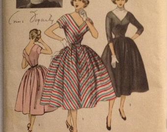 Advance Pattern 6160 Vintage Misses Dress  Size 11