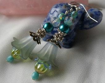 Misty Morning Flower Earrings