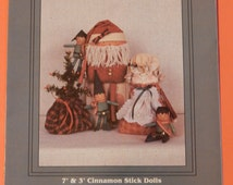 Cinnamon Santa and Co. cinnamon stick doll pattern from My Sister & I Patterns