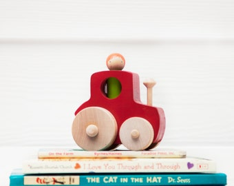 Wooden Toy Tractor // Peg Doll Tractor // Farmer Peg Doll // Wooden Vehicle // Wooden Toys