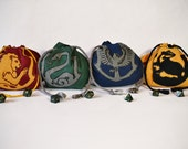 Harry Potter - Inspired Hogwarts House Dice Bags
