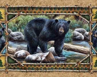 Bear Country Fabric Panel From Quilting Treasures