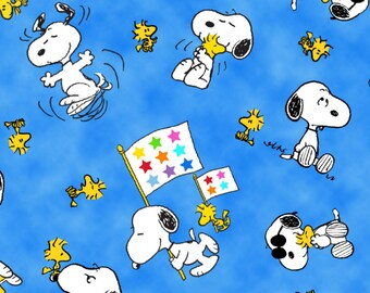 Project Linus Snoopy and Woodstock Toss Fabric