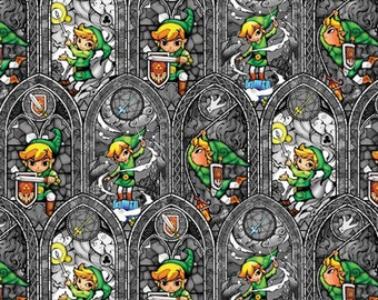 Per Yard, Nintendo Zelda Sword Powers Fabric From Springs Creative