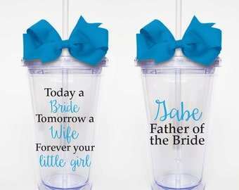 Bride, Wife, Little Girl, Father of the Bride - Acrylic Tumbler Personalized Cup