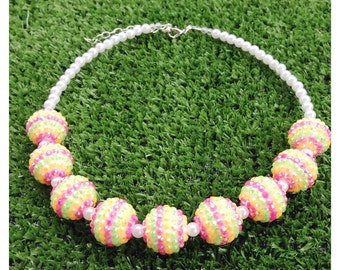 Summer Sparkle chunky necklace toddler/girls