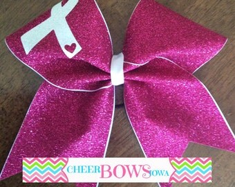 Breast Cancer Awareness bow -- AVAILABLE NOW -- Ready to ship