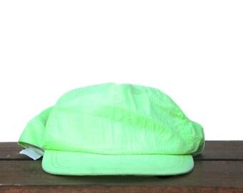 Vintage Neon Green Yellow Chartreuse Party Summer Festival Trucker Hat Snapback Baseball Cap