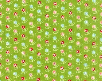 SALE!! 1/2 Yard - Vintage Picnic-Bonnie and Camille - Green- Moda - Fabric Yardage - 55121-14