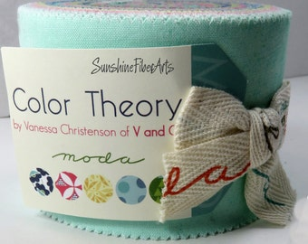 "Color Theory - Vanessa Christenson - V and Co - Moda - 20 Pieces - 2 1/2"" Strips - Junior Jelly Roll - 10830JJR"