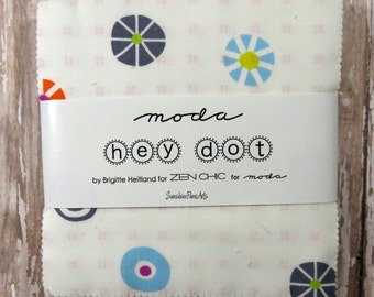 "Hey Dot - Zen Chic - Moda - 42 pieces - 2 1/2"" Squares - Mini Charm Pack - 1600MC"