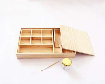 Montessori Wooden Gluing Box