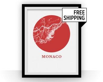 Monaco Map Print - City Map Poster