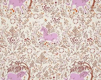Closing Sale New Heather Ross Far Far Away Unicorn White Lavender fabric Amazing OOP Vhtf By the Half Yard