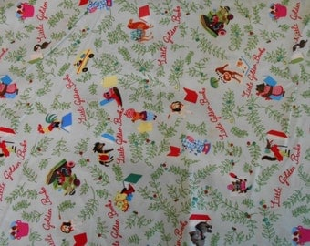 Closing Sale Little Golden Book Fabric Amazing Super Hard To Find Oop Wow By the Half Yard