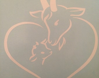 Goat Love Decal