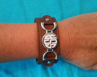 Monogrammed cuff braclets