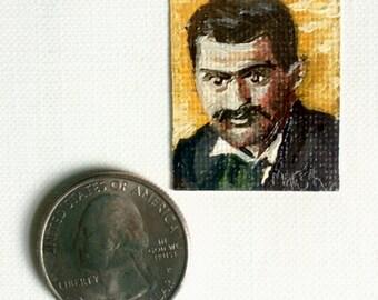 Mini Paul Cézanne Portrait Painting, Framed