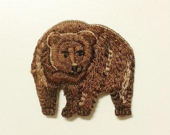 Bear Iron on Patch