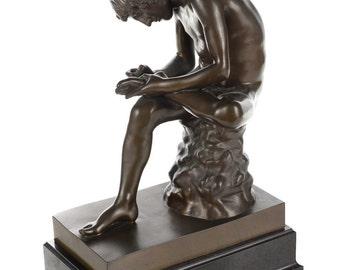 19th century original Barbedienne Bronze sculpture - Boy with Thorn