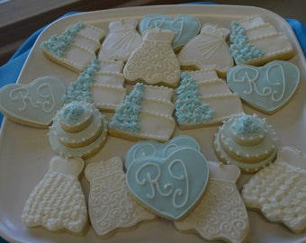 Bridal Shower / Wedding Cookies (Customize your order at no extra charge!) More shapes and colors!