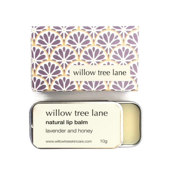 Lavender and Honey Natural Lip Balm, lip salve infused with essential oils, sliding tin