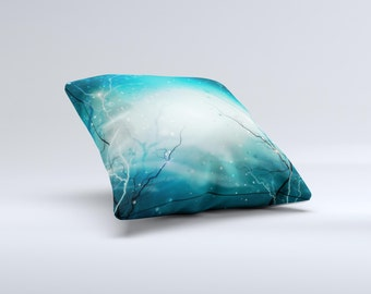 The Electric Teal Volts ink-Fuzed Decorative Throw Pillow