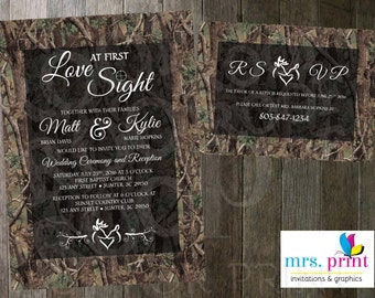 Love at First Sight - Wedding Invitation and RSVP Card