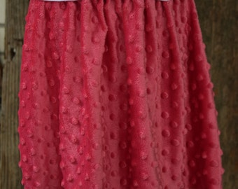 Pink Minky Dot Skirt ONLY 3 AVAILABLE 4t and Two 5t's