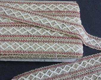 9 Yards Natural Handspun Jute Trim, Natural Jute Ribbon,Burlap Ribbon, Jute lace