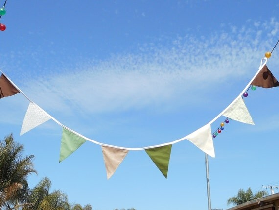 Custom Bunting / Wedding decor / Fabric Flags / Choose fabrics / party bunting / Long Lengths / Party Garland / Reusable / Party Garland