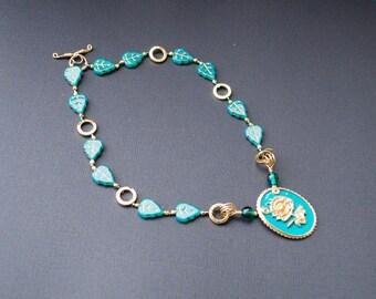 Be-Leaf in Magic Necklace! Repurposed Vintage