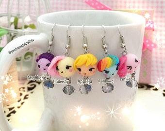 Chibi Mochi Kawaii Earrings - MLP- made to order