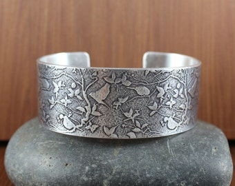 Rustic Romantic ~ Birds ~  Bangle cuff bracelet