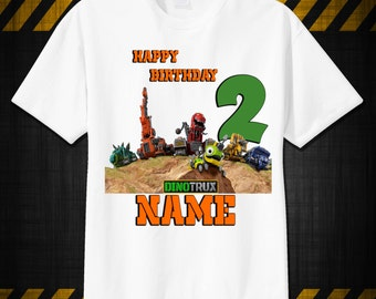 Dinotrux Custom T-Shirt, PERSONALIZE with Name, Perfect Birthday Gift!